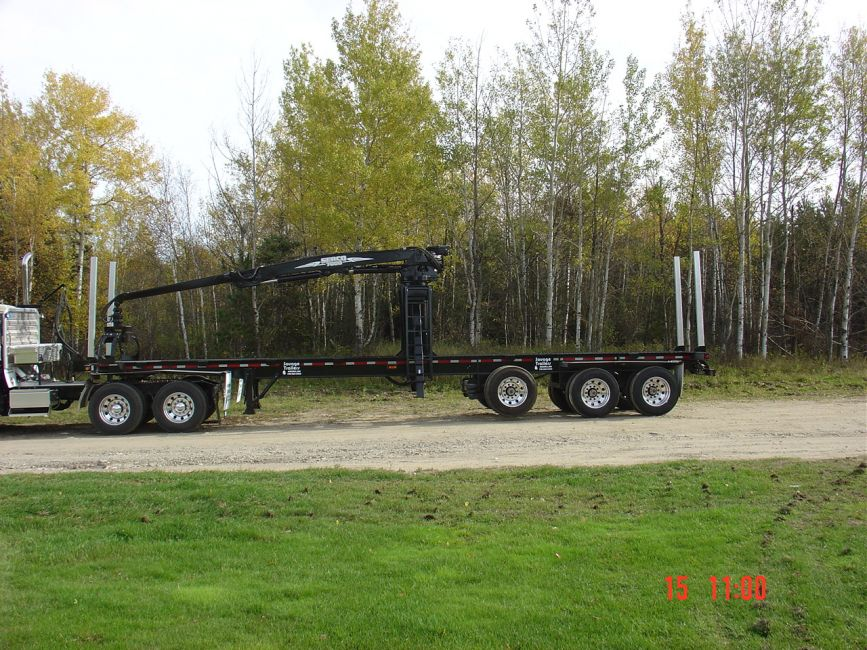 Drop Deck Trailer For Sale >> Custom Built Logging Trailers - Savage Trailers Inc
